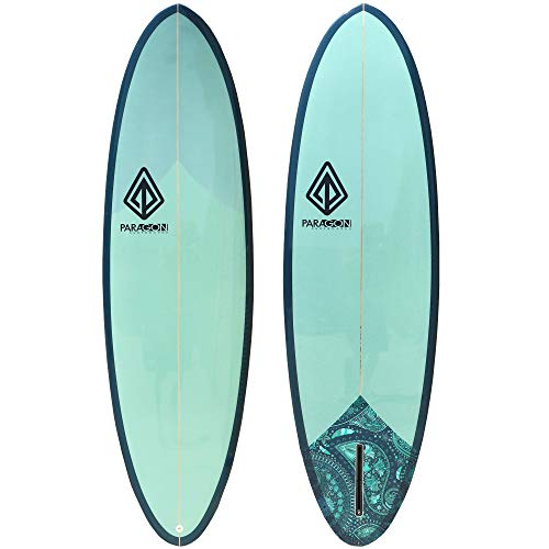 Paragon Surfboards Retro Egg Surfboard   Fun & Easy to Ride Single Fin Performance Surf Board Ideal for Intermediate Surfers   6'6'x 22.06'x 2.75'   Eggplant