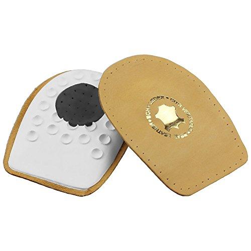 smart&gentle Taloneras para espolón - De piel auténtica, gran calidad, con almohadilla de talón adaptable, plantillas fascitis plantar y espolón calcáneo