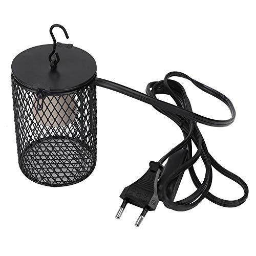 Reptilien Wärmelampe Schutzkorb Lampenschutzkorb Lampenschutzgitter für Terrarien Lampen schützt Reptilien vor Verbrennungen(EU 220V)