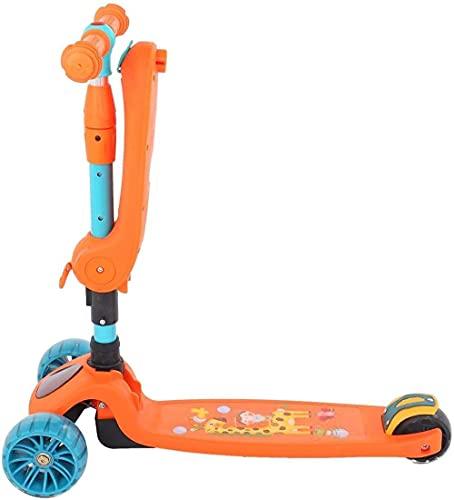 Patinete para Niños Triciclo portátil para niños Scooter 3 en 1 de altura ajustable para niños Scooter portátil con adecuado para niños mayores de 2 años , Patinete Infantil Juguete Regalo de N