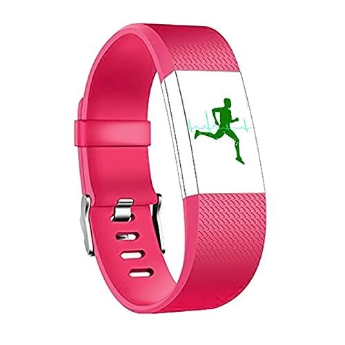 Fit Bit Coating2 Quadratischer Muster Silikonarmband Für Ladung 2 Bandzubehör Smartwatch Armband-Riemen Armband Ersatz (Color : Rose red, Size : L for Charge 2)