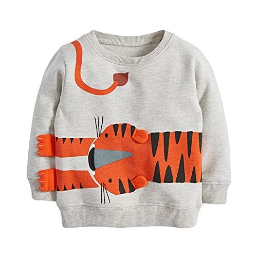 Reliaseren Bebé Niño Sudadera Niños Algodón Superior Puente Camiseta Linda De Manga Larga Niños Ropa De Niño Edad 1 2 3 4 5 6 7 Años (Tiger,6 Years)