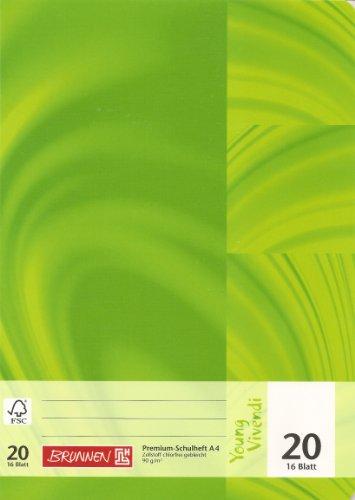 Brunnen Young Vivendi Heft A4, Lin. 20, 16 Blatt chlorfrei