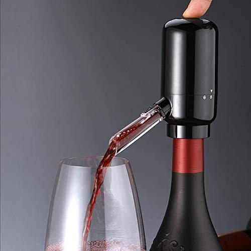 Aceshop Aireador Eléctrico para Vino Portátil Aireador de Vino Eléctrico Aireador y Dispensador Eléctrico de Vino Automático de Oxidante de Vino Eléctrico Multi Inteligente Pourer