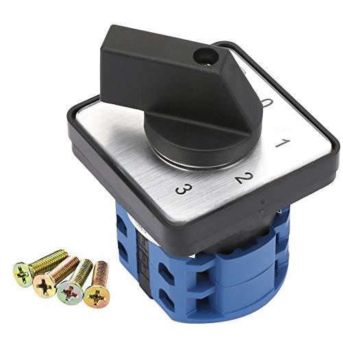 Interruptor de leva - Interruptor selector Selector giratorio de 4 polos y 2 posiciones Interruptor de cambio de leva giratorio universal