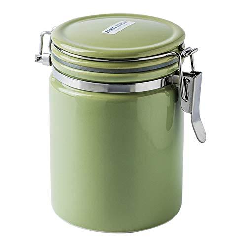 WXXT Bote Cafe,Tarros de Almacenamiento de cerámica,tarros de azúcar decafé de témano-tarros de Almacenamiento de cerámica de Cocina con Sellos Elegir 350ml