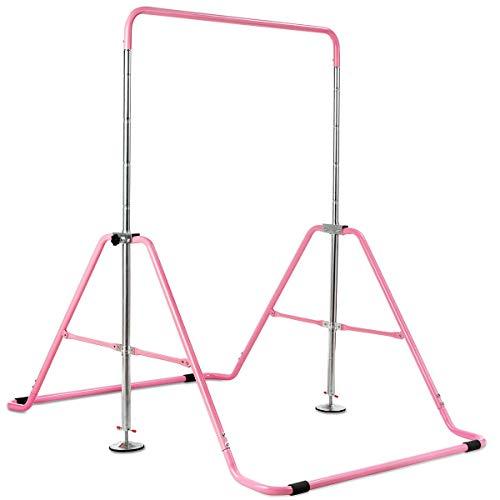 simplyUSAhello Expandable Gymnastics Training Bar Adjustable Junior Horizontal Kip Bar