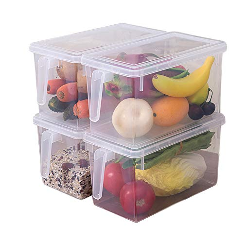 PENGKE Plastic Food Storage Container,with Lid and Handle,Food...
