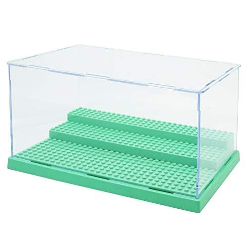 Hahepo Vitrina transparente de 3 pasos para paneles de acrílico resistente al polvo para bloques, vitrina de plástico