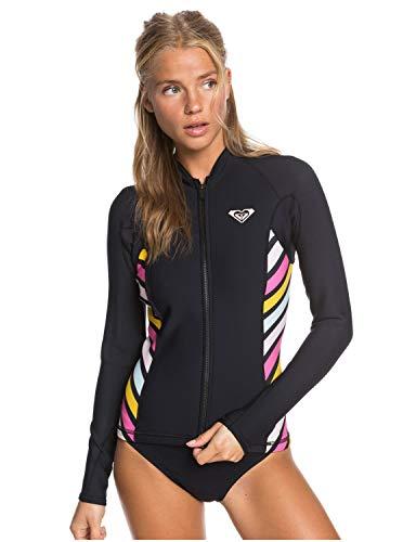 Roxy Chaqueta de Neopreno de Neopreno para Mujer Pop Surf 1mm Negro - Estiramiento fácil - Estilo sostenible Que Performs con Pop Surf