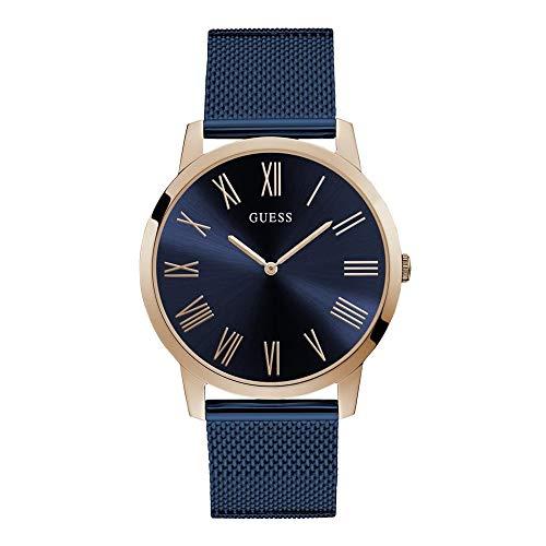Guess Richmond - Armbanduhr - Herrenuhr - Edelstahl - rosegoldfarben/blau - poliert/mattiert