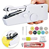 Handheld Sewing Machine Hand Sewing Machine Mini Handy Cordless Portable Sewing Machine Quick Repairing Stitch Tool for Beginners, Fabric, DIY, Clothes, Home, Travel