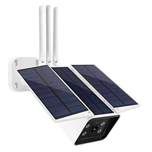 Jingyig Sistema de monitorización inalámbrica, cámara de Seguridad con energía Solar, Conector(Southeast Asia and South America Frequency Bands)