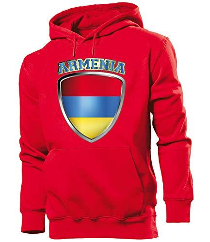Golebros Armenien Armenia Fan Artikel 4752 Fuss Ball EM 2020 WM 2022 Hoodie Pulli Sweatshirt Kapuzen Pullover Flagge Fahne Männer Herren World Cup XL