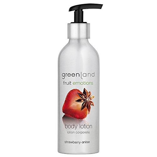 Greenland Körperlotion Anis Erdbeer | 600ml Verwöhnende Alternative zur Body Milk | Natürlich leichte Bodylotion für weiche Haut | 100% Vegan