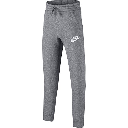 NIKE Sportswear Boys' Club Fleece Joggers, Carbon Heather/Cool Grey/White, Large
