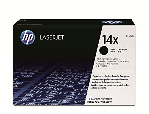 HP 14X CF214X, Negro, Cartucho Tóner de Alta Capacidad Original, de 17.500 páginas, para impresoras HP LaserJet Enterprise 700 M712, M725dn, M725f, M725z, M725z+, M712dn, M712xh