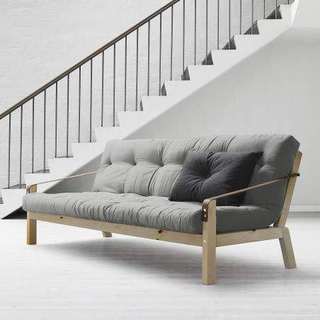 Alfred & Compagnie Canapé convertible + futon JESPER 130x190 pin naturel vernis
