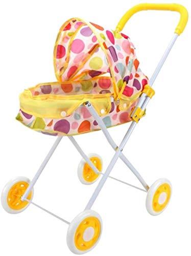 TXXM Plegable de la muñeca del Cochecito Cochecito for Renacer bebé recién Nacido, niños de la guardería Mobiliario de Dormitorio decoración de Juguete