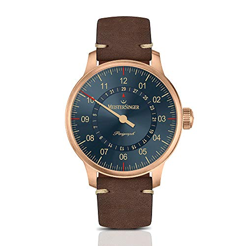 Meistersinger Perigraph Herren-Armbanduhr 43mm Automatik AM1017BR