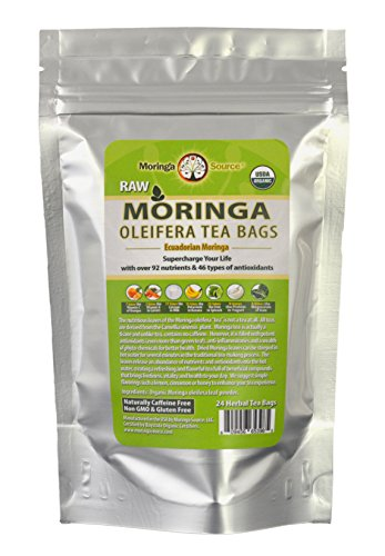 Organic Moringa Superfood Tea-Pomegranate-30 Teabags, 100% Pure, Raw, Potent, Energy Boosting, Non-GMO. Rich in Nutrients, Amino Acids, Anti-inflammatories, Antioxidants and Vegetable Proteins.