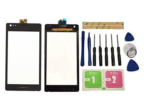 Flügel para Sony Xperia M C1904 C1905 Pantalla de Cristal Táctil touchscreen glass display Negro( Sin LCD)de Recambio & Herramientas