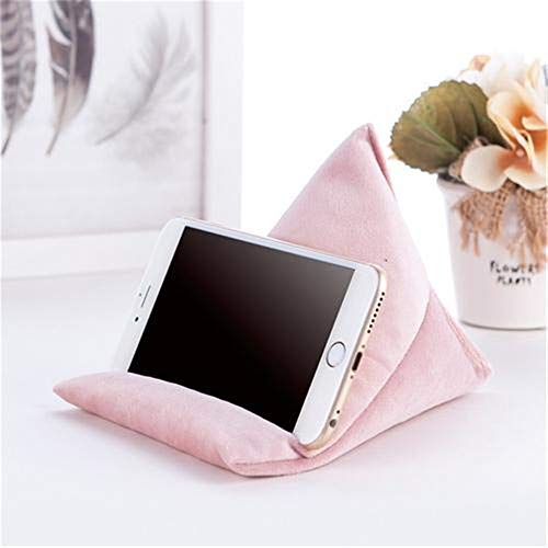 Nicole Knupfer Tablet Stand/Bean Bag Cushion Holder for All Devices/Any Angle on Any Surface (Pink)