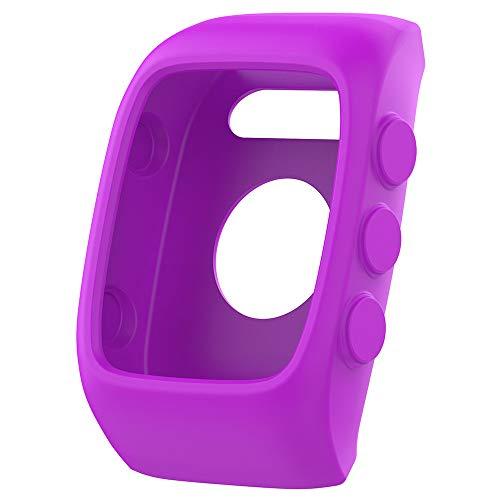 für Polar M400 M430 Watch Hülle Displayschutz Ersatzband Schutzhülle, Weich Silikon [schmutzabweisend] [wasserdicht] Stoßfest und bruchsicher Schutzhülle (Lila)