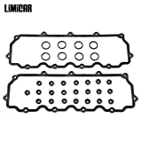 LIMICAR Engine Valve Cover Gasket Set VS50691R Compatible with 2003 2004 2005 2006 2007 2008 2009 2010 Ford 6.0L V8 Powerstroke Diesel