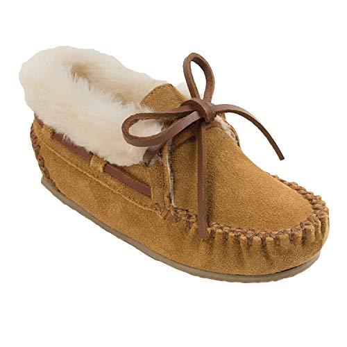 Rio Grande Arts & Crafts Minnetonka Mädchen Charley Bootie Mokassin Stiefel, Beige (Cinnamon), 31