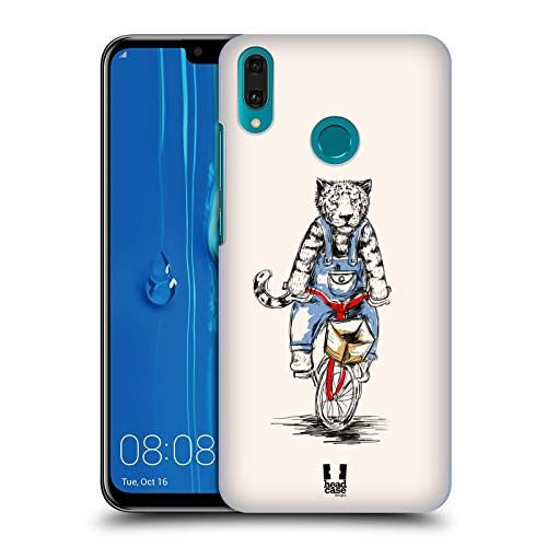 Head Case Designs Tiger Animals On Bikes Hard Back Case Compatible for Huawei Y9 (2019)