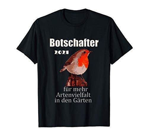 Rotkehlchen Design, Vogel des Jahres 2021 T-Shirt