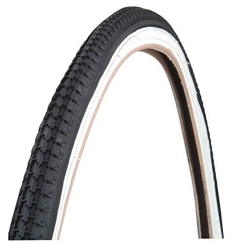 2neumáticos para bicicleta de 26x 13/8–Blanco/Negro, ideal para bicicleta de paseo, clásica, holandesa, para hombre, mujer