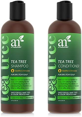 ArtNaturals Tea Tree Shampoo and Conditioner Set 2 x 12 Fl Oz Therapeutic Grade Tea Tree Essential product image