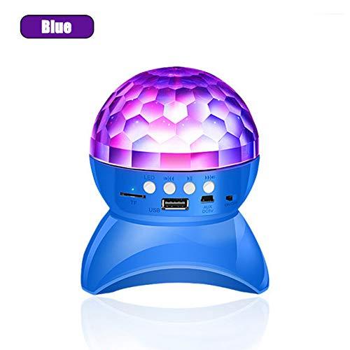 QAIYXM Altavoz del Bluetooth Sin Hilos, Etapa Luces Recargables RGB LED Bola...