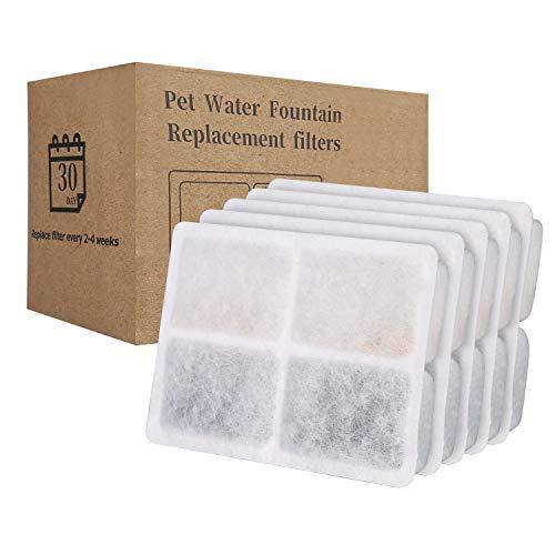 Makife 5er Pack Ersatzfilter für Trinkbrunnen für Katzen und Kleine Hunde