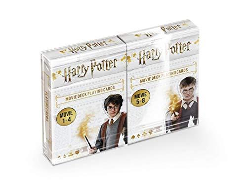 Shuffle - Harry Potter, Warner Bros - Lot 2 jeux de 54 cartes à jouer - Meilleurs moments des films - Duopack - 10004569-0001