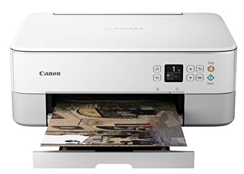 Canon PIXMA TS5320 All In One Wireless Printer, Scanner, Copier with AirPrint, White, Works with Alexa
