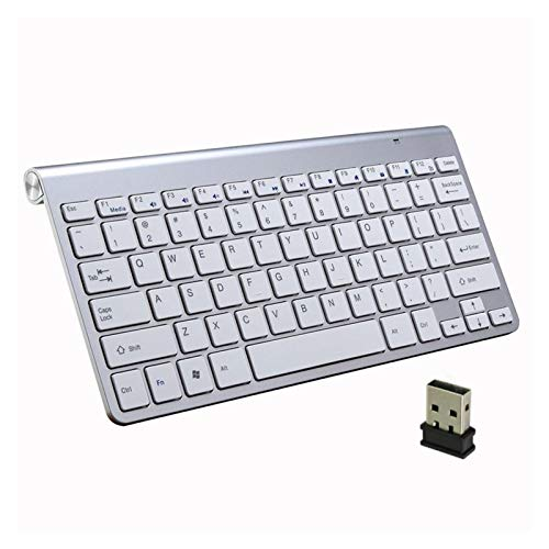 L-sister Alta precisión Miniskirt USB Teclado con el Mouse Combo para PC Laptop TV Computadora Gumshoe KeyCaps Ergonómico Descriptible Keyboard Teclado de Radiocomunicaciones Mejor sensibilidad