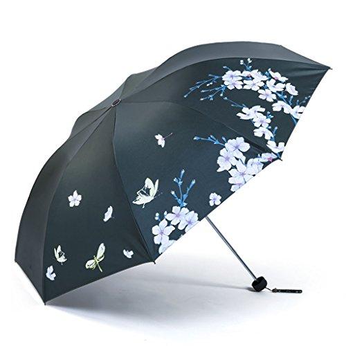 LGQ-LIFE Reiseregenschirm, Winddichtes Falten Ultraleichter Sonnenschutz UV-Regenschirme Zero Transparent Sun Umbrella Mit Doppeltem Verwendungszweck (Color : C)