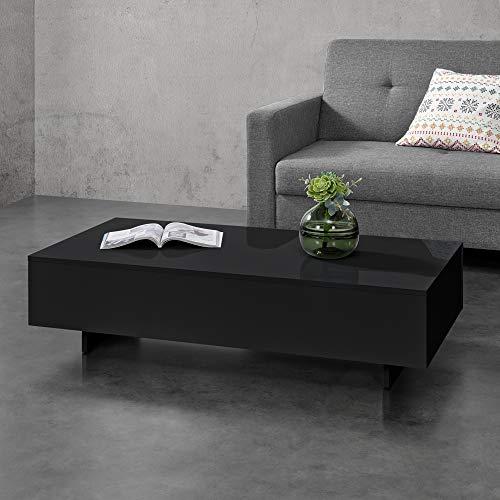 Salontafel Braunschweig 115x55x31 cm zwart hoogglans
