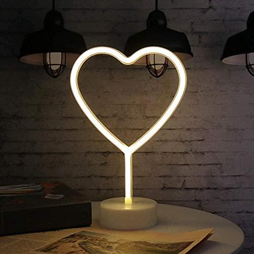 neón signos de luz, Amor LED Neon Signs lámparas con pedestal LED de neón con batería o USB Operación, Luces de la...