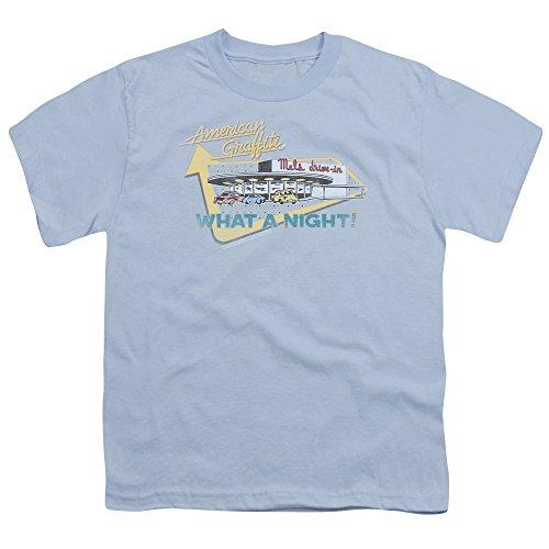 American Grafitti - - Le lecteur de jeunesse Mel En T-shirt, X-Large, Light Blue