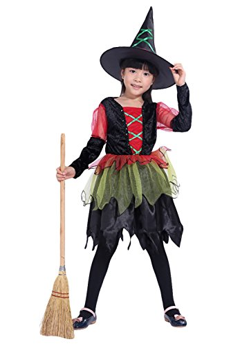 RedJade Costume per Le Ragazze - Simpatico Costume di Halloween con Abito e Cappello