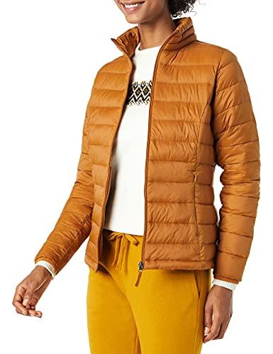 Amazon Essentials Lightweight Water-Resistant Packable Puffer Jacket Chaqueta, Bronceado, XL