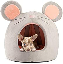 Best Friends by Sheri Novelty Pet Hut in Mouse Grey - 360 Degree Coverage for Comfort and Security, Washable, for Pets up to 15lbs.