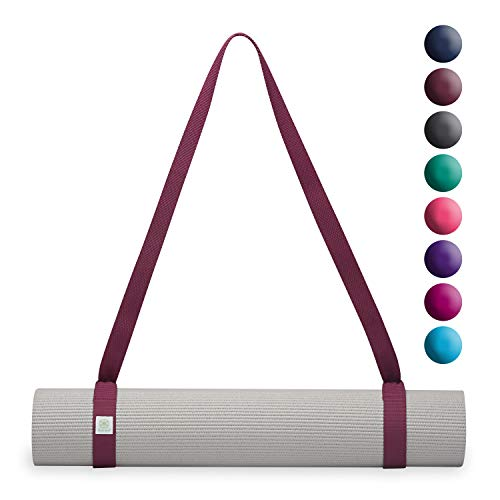 Gaiam Easy-Cinch Yoga Mat Sling, Mulberry