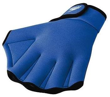 Speedo Unisex Swim Training Gloves Aquatic Fitness Royal Medium