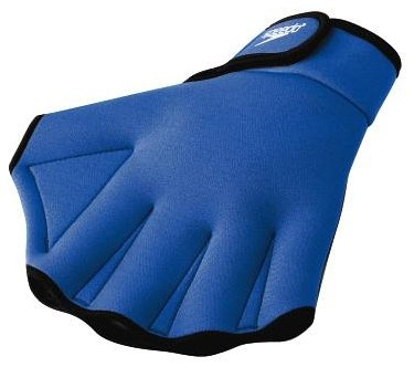 Speedo Aqua Fit Swim Training Gloves, Royal Blue, Large