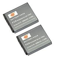 DSTE® アクセサリ Fujifilm NP-50 D-LI68 KLIC-7004 互換 カメラ バッテリー 2個 対応機種 FinePix F60FD F100FD F70EXR F75EXR F80EXR F85EXR Pentax Q7 Q10 Q-S1 [並行輸入品]